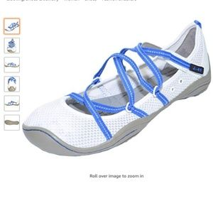 J-41 Barefoot Outdoor Sneakers 10M White/Cobalt